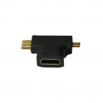 ADAPT.MICRO HDMI + MINI HDMI MALE TO HDMI FEMELLE